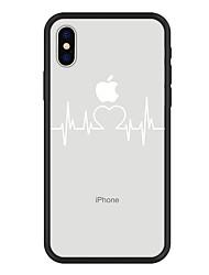 Недорогие -Кейс для Назначение Apple iPhone X / iPhone 8 Plus С узором Кейс на заднюю панель Полосы / волосы / С сердцем / Мультипликация Твердый Акрил для iPhone XS / iPhone XR / iPhone XS Max
