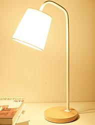 Недорогие -Современный Регулируется Настольная лампа Назначение Дерево / бамбук Белый Черный