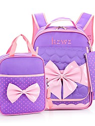 cheap -Women's Bags Nylon Backpack Zipper for Casual Red / Blushing Pink / Purple