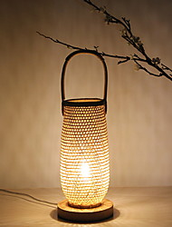 baratos -Rústico / Campestre Decorativa Luminária de Mesa Para Madeira / Bambu 220-240V Café