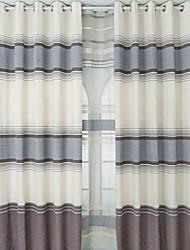 povoljno -Zavjese Zavjese Bedroom Dungi Pamuk / poliester Pigment Print