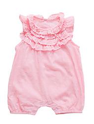 abordables -bébé Fille Couleur Pleine Sans Manches Une-Pièce