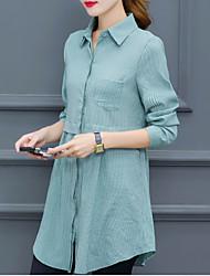 preiswerte -Damen Solide-Geschäftlich Hemd