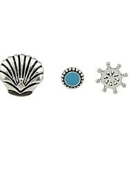 cheap -Women's 3pcs Stud Earrings - Casual / Fashion Silver Circle / Shell Earrings For Gift / Date