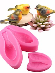 Недорогие -милый 3d птица помадный торт украшения инструменты sugarcraft силиконовая форма выпечки gumpaste шоколадные формы