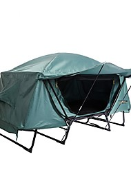 cheap -1 person Double Layered Poled Dome Camping Tent Outdoor Rain-Proof, Windproof for Fishing / Camping / Hiking / Caving / Traveling 2000-3000 mm UV, Oxford cloth, Oxford 214*77*120 cm