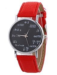 cheap -Women's Wrist Watch Chinese Casual Watch PU Band Casual / Fashion Black / White / Blue / One Year