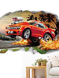 abordables -Autocollants muraux décoratifs - Autocollants avion Animaux 3D Salle de séjour Chambre à coucher Salle de bain Cuisine Salle à manger