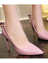 preiswerte -Damen Schuhe PU Frühling Herbst Pumps Komfort High Heels Stöckelabsatz für Normal Schwarz Grau Rosa