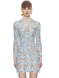 cheap -Women's Sophisticated Street chic Bodycon Dress - Floral