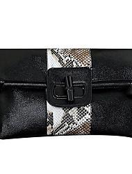 Недорогие -Жен. Мешки Кожа Вечерняя сумочка Молнии для Для праздника / вечеринки Белый / Черный