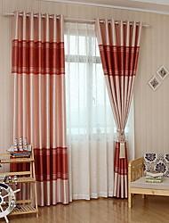 povoljno -Zavjese Zavjese Living Room Color block Dungi Pamuk / poliester S printom