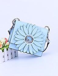 baratos -Mulheres Bolsas Outros Tipos de Couro Bolsa de Ombro Flor Azul / Vermelho