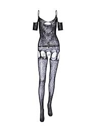 Недорогие -Жен. Большие размеры Сексуальные платья Комбинация Ночное белье - Сетка Однотонный / На бретелях