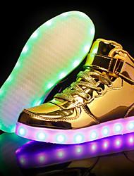 abordables -Homme / Unisexe Chaussures éclairantes Polyuréthane Eté / Automne Basket Blanc / Noir / Argent