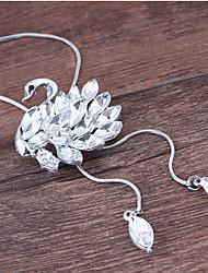 Недорогие -Жен. Ожерелья с подвесками длинное ожерелье Лебедь европейский Мода Сплав Серебряный 70 cm Ожерелье Бижутерия Назначение Для вечеринок
