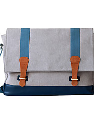 cheap -Men's Bags Oxford Cloth Shoulder Bag Buttons / Zipper Gray
