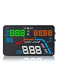 cheap -Q700 5.6 inch LED Head Up Display LED indicator Multi-functional display Plug and play for Truck Bus Car Display KM/h MPH Driving Speed