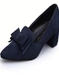 Недорогие -Жен. Обувь Полиуретан Весна Лето Удобная обувь На плокой подошве На низком каблуке Круглый носок для Повседневные Черный Синий