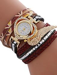 Недорогие -Жен. Часы-браслет Китайский Повседневные часы / Имитация Алмазный PU Группа Heart Shape / Мода Черный / Белый / Синий / Один год