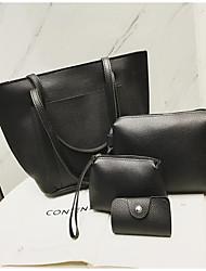 baratos -Mulheres Bolsas PU Conjuntos de saco Conjunto de bolsa de 4 pcs Botões / Ziper Rosa / Cinzento / Marron