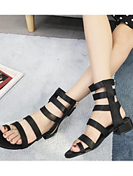 cheap -Women's Shoes PU Spring & Summer Gladiator Sandals Low Heel for Black
