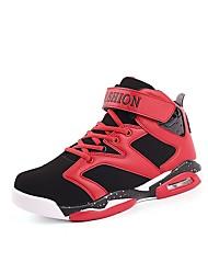 Недорогие -Жен. Обувь Дерматин Осень Удобная обувь Спортивная обувь Для баскетбола На плоской подошве Закрытый мыс Черный / Черно-белый / Черный /