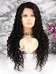 baratos -Cabelo Remy Peruca Cabelo Brasileiro Encaracolado Corte em Camadas 130% Densidade Com Baby Hair / 100% Virgem Natural Curto / Longo /