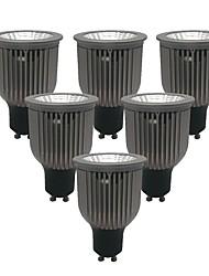 cheap -ZDM® 6pcs 6W 1 LEDs LED Spotlight Warm White Cold White Natural White 85-265V Cabinet Commercial Home / Office