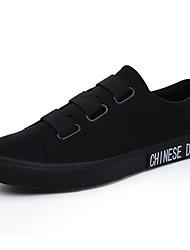 baratos -Homens Sapatos de Condução Lona Primavera & Outono Conforto Tênis Preto / Branco / Preto