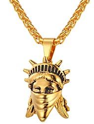 Недорогие -Ожерелья с подвесками - Мода Золотой, Серебряный 55 cm Ожерелье Бижутерия Назначение Повседневные