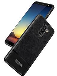 billiga -fodral Till Samsung Galaxy A6+ (2018) / A6 (2018) Läderplastik Skal Enfärgad Mjukt Silikon för A6 (2018) / A6+ (2018) / A3 (2017)