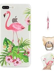 economico -Custodia Per Apple iPhone X / iPhone 8 Plus Fantasia / disegno Per retro Fenicottero Morbido TPU per iPhone X / iPhone 8 Plus / iPhone 8