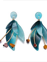 cheap -Women's Stud Earrings / Drop Earrings / Hoop Earrings - Floral / Botanicals, Flower European Coffee / Blue For Wedding / Daily