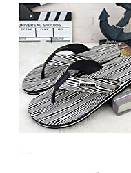 cheap -Men's Shoes PVC Leather Summer Comfort Slippers & Flip-Flops Black / Yellow / Brown