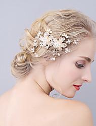cheap -Rhinestone Hair Combs with Flower / Crystals / Rhinestones 1 Piece Wedding / Party / Evening Headpiece