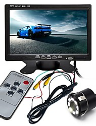 cheap -ZIQIAO 7 inch TFT-LCD CCD Wired 170 Degree Car Rear View Kit Waterproof / LCD Screen / Multi-functional display for Car