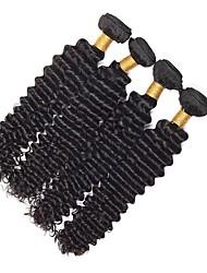Недорогие -Малазийские волосы Кудрявый Человека ткет Волосы / Накладки из натуральных волос Ткет человеческих волос Лучшее качество / Горячая