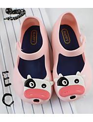 baratos -Para Meninas Sapatos PVC Verão Conforto / Plástico Sandálias para Preto / Azul / Rosa claro