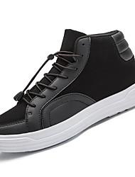 Недорогие -Жен. Обувь Искусственное волокно Весна / Осень Удобная обувь Кеды На плоской подошве Круглый носок Белый / Черный