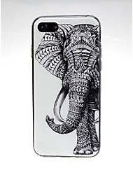 economico -Custodia Per Apple iPhone X / iPhone 7 Ultra sottile / Fantasia / disegno / Adorabile Per retro Elefante / Animali Morbido TPU per iPhone