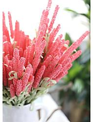 cheap -Artificial Flowers 3 Branch Wedding / Pastoral Style Lavender / Eternal Flower Tabletop Flower