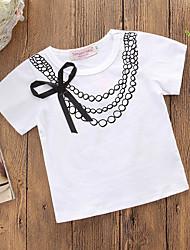 preiswerte -Baby Mädchen Aktiv / Grundlegend Druck Schleife Kurzarm Baumwolle T-Shirt