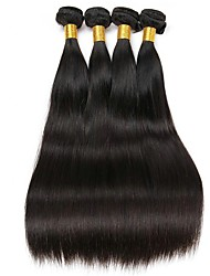 cheap -Malaysian Hair Straight Natural Color Hair Weaves / Human Hair Extensions Human Hair Weaves Extention / Hot Sale Natural Black All