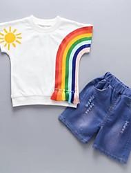 Недорогие -Дети / Дети (1-4 лет) Мальчики Цветок солнца Пэчворк / Фрукты С короткими рукавами Набор одежды