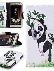 Недорогие -Кейс для Назначение SSamsung Galaxy J7 (2017) J2 PRO 2018 Бумажник для карт Кошелек со стендом Флип С узором Чехол Панда Твердый Кожа PU