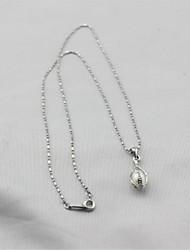 baratos -Mulheres S925 Sterling Silver / Pérolas de água doce Conjunto de jóias 1 Colar / 1 Bracelete / Brincos - Clássico / Fashion Formato