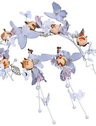Недорогие -Полиэстер Аксессуары для волос с Искусственный жемчуг / Цветы 1 шт. Свадьба / Карнавал Заставка