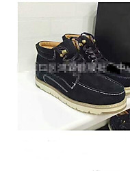 cheap -Men's Snow Boots Wool Winter Comfort Boots Booties / Ankle Boots Black / Gray / Blue
