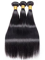 Недорогие -Перуанские волосы Прямой Человека ткет Волосы / Накладки из натуральных волос Подарочныйпакет 8-28дюймовый Ткет человеческих волос Без
